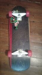 Vintage Toxic Complete Skateboard With Nos Tracker Aggros And Powell Street Bones