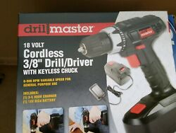 New 18v 18 Volt Cordless 3/8 Drill Driver Bit Driver With Variable Speed