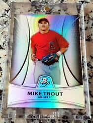 Mike Trout 2010 Bowman Platinum Refractor Sp Rookie Card Rc 758/999 Angels Hot