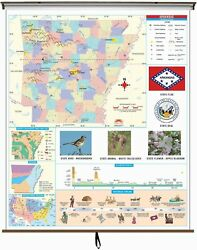 Arkansas State Primary Thematic Classroom Wall Map
