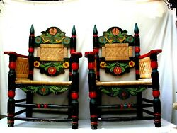 Antique Olinala Pair Of Arm Chairs From Mexico The Best
