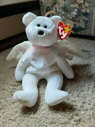 2 Original Halo Beanie Babies Rare Brown Nose Tush Tag Red Stamp 474 And 481