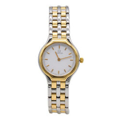 Omega Ladies 18k Gold Plated And Ss 1980s Swiss Watch