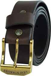 Levi's Men's 100 Leather Belt With Prong Buckle