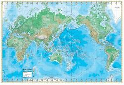 World Advanced Physical Mounted Wall Map Framing Available