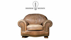 Vintage Brown Leather Club Chair By Hancock And Moore