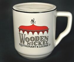The Wooden Nickel Restaurant And Lounge Coffee Mustache Mug Cup - Carousel Rooster