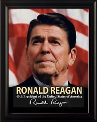 Ronald Reagan 40th President Poster Picture Or Framed Wall Art