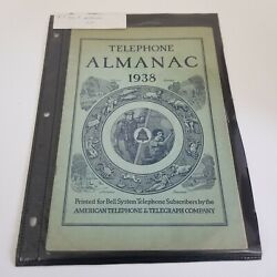 Telephone Almanac 1938 Winter Spring Bell System Telephone Subscribers By Atandt
