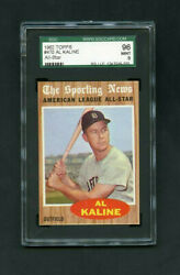 1962 Al Kaline Topps 470 Detroit Tigers Sgc 96 Mint 9 Unseen In This Condition