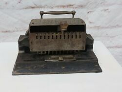 Antique 1888 Hoggson And Pettis Mfg. Co. Check Protector Automatic Safety Punch