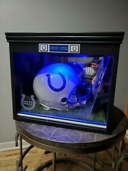 Full Size Helmet Autographed By Johnny Unitas And Custom Case