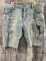 Mens American Eagle Outfitters Distressed Jean Shorts Sz 36 - Used