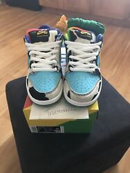 Nike Sb Dunk Ben And Jerry's Chunky Dunky Men's Size 6.5 Special Box