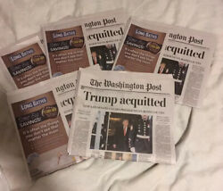 5 - Washington Post Trump Impeached Full Newspaper Acquitted 2/6/2020