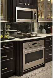 Monogram Zet1smss 30 Inch Single Electric Wall Oven With 4.4 Cu. Ft. Reverse-air