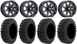 Itp Twister 14 Wheels Milled 29 Dual Threat Tires Can-am Defender