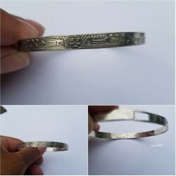 Sterling Silver Haida Pacific Northwest Cuff Bracelet Marked Raven Gp Or Cp