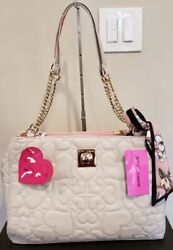 Betsey Johnson Stone Tote With Scarf and Chain Strap Handbag $59.95