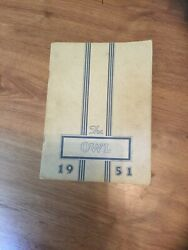 1951 Westminster High School Annual Yearbook Maryland Md