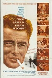 The James Dean Story Warner Brothers 1957. Usa 1 Sheet .27 X 41 Inches
