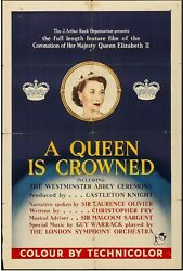 A Queen Is Crowned Rank, 1953 British One Sheet 27 X 40 Movie Poster
