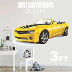 Yellow Chevrolet Camaro Decal Removable Kids Room Graphic Wall Sticker