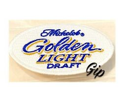 New Michelob Golden Light Draft Beer Iron On Patch Mich Golden 3 White Patch