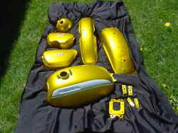 Honda Sl350 Restored Gas Tank Side Covers Fenders Headlight Candy Panther Gold