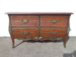Antique French Country Dresser Bombe Chest Nightstand Table Rococo Baroque Toole
