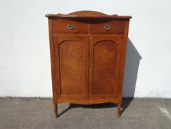 Antique Chest Of Drawers Tall Dresser Armoire Wardrobe Closet Wood Bedroom