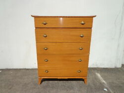 Antique Chest Of Drawers By Rway Art Deco Tall Dresser Wood Furniture Midcentury