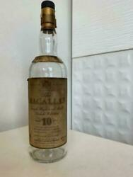 Macallan Empty Bottle 10 Yer Old Bottle Scotch Whiskey Collection Collector F/s