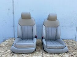 Front Seats Seat Left Right Tan Interior Bentley Flying Spur Oem 06-08