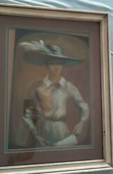 Gilberto Aceves Navarro + Hand Signed Lady W/hat + Mexican Master