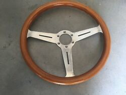 Porsche 356 Wood Steering Wheel Made In Italy Date Stamped 7/81