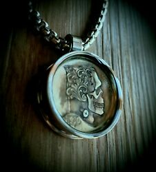 Frankestein Hobo Nickel Necklace with 26quot; Stainless Steel Chain $20.99