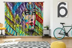 3d Color Painted Ethnic Girl Zhua222 Blockout Photo Curtain Fabric Window Amy