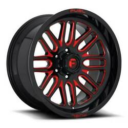 22x12 D663 Fuel Ignite Gloss Black And Red Wheels 6x135 -43mm Set Of 4