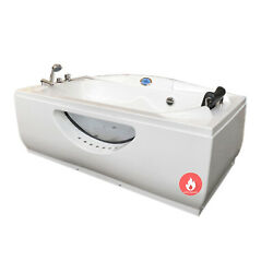Whirlpool White Bathtub Hydrotherapy Spa Hot Tub Paris With Heater
