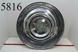 1954 54 1955 55 Cadillac 15 Hubcap Wheel Cover With Crest Emblem Oem Single