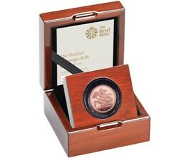 Royal Mint 2018 Gold Proof Piedfort Sovereign Coin With Box And Coa. 22ct 15.96g