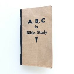 Vintage Mini Pocket A,b,c, In Bible Study For Christ And His Church 2 X 3.5
