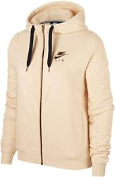 Womens Nike Rally Full Zip Hoodie Size Xs Av6229 838 Guava Ice/gold Loose Fit
