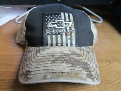 NEW CHEVROLET CAMO HAT WITH FLAG ONE SIZE FITS ALL RALPH WHITE  $19.95