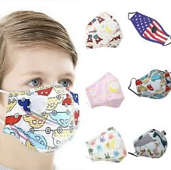 Handmade Kids Face Mask With Valve Reusable Washable 100% cotton+2 Filters $8.99