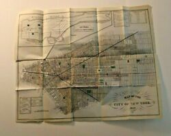 Vintage Map Of The City Of New York 1850 T Valentines By G Hayward Original