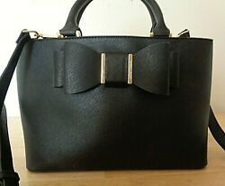 BETSEY JOHNSON black satchel stye shoulder bag $55.00