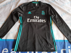 Real Madrid 2017-18 Ls Away Match Player Issue Shirtplain, Bn Without Tag
