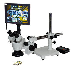 Pcb Inspection Mobile Soldering 4-22x Zoom Stereo Lcd Microscope Wd 165mm/6.5